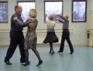 Paartanz beim Tag der Offenen Tür im Tanzstudio