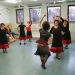 Spanischer Tanz beim Tag der Offenen Tür im Tanzstudio