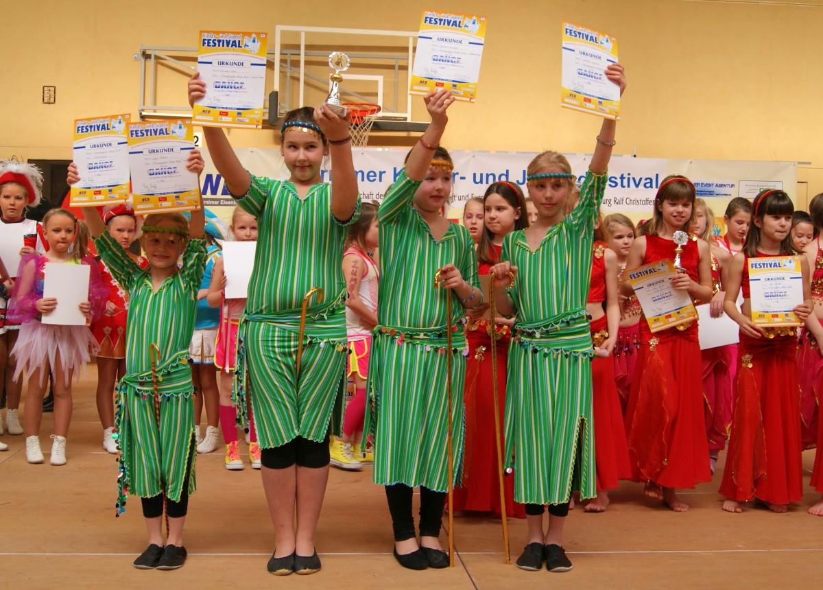 1. Platz Kids Oriental beim Tanzfestival Bernau