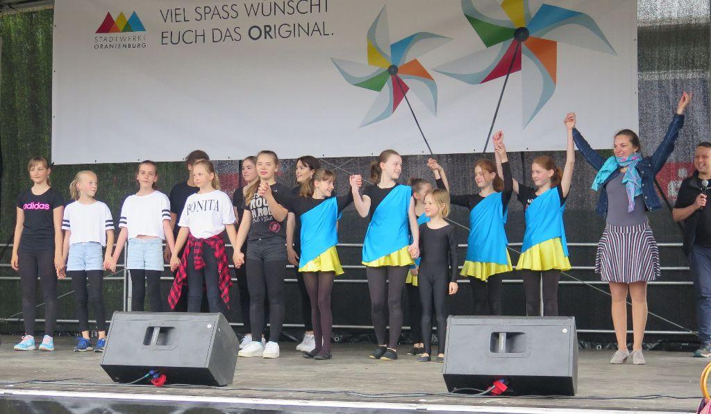 Auftritt beim 13. Kinderfest in Oranienburg